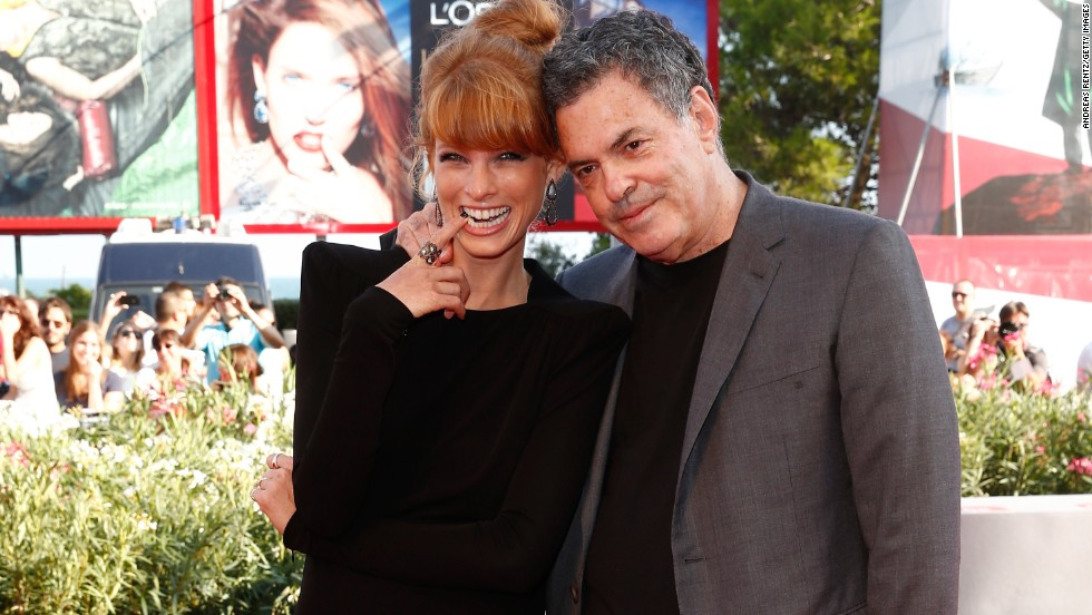 "Actress Yuval Scharf and director Amos Gitai attend the ""Ana Arabia"" premiere at the Palazzo del Cinema on September 3."