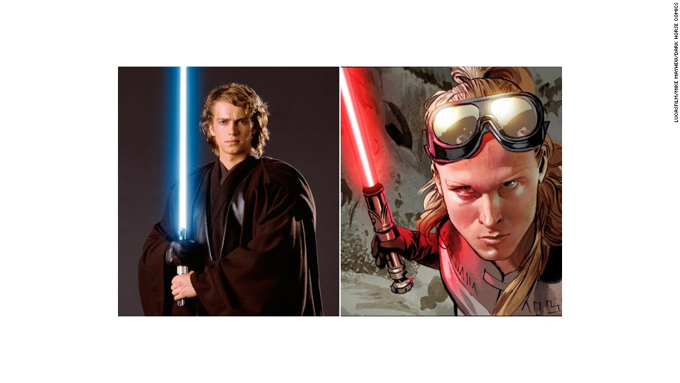 Annikin (as opposed to Anakin Skywalker) is a separate character from Darth Vader in this story, though he shares some of the same characteristics.