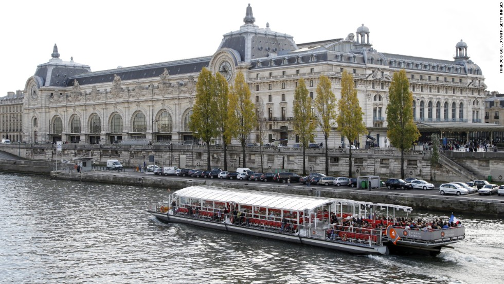 The Musee D'Orsay building is a former Paris train station that displays artwork from 1848 to 1914. It opened in 1986 with collections compiled from three French museums; the Louvre, Musée du Jeu de Paume and the National Museum of Modern Art.
