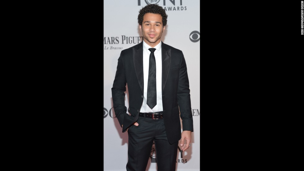 """High School Musical"" and Broadway star Corbin Bleu attended the 66th Annual Tony Awards at the Beacon Theatre in New York in 2012."