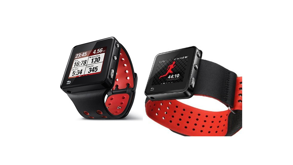 The Motoactv smartwatch is marketed as a fitness tracker. It acts as a heart-rate monitor and pedometer, has GPS and an MP3 player. There are also a number of off-the-wrist mount options, including a handlebar strap, armband and chest strap.