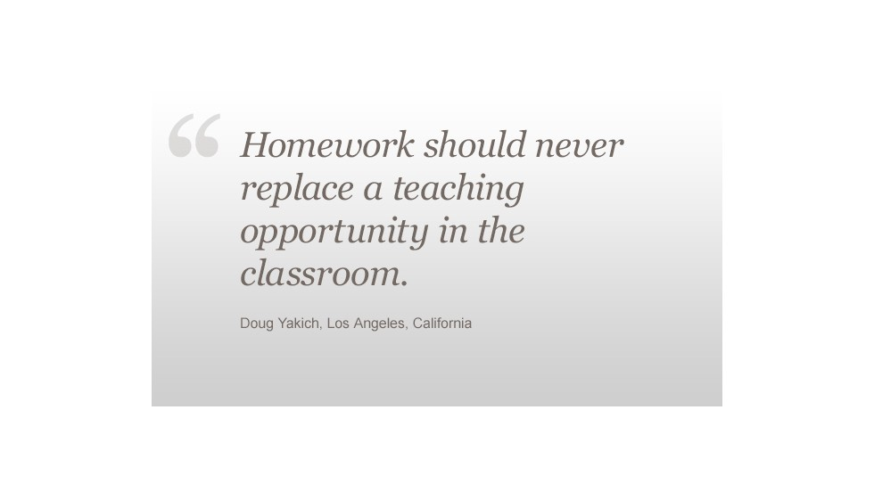 Homework Doug Yakich quote
