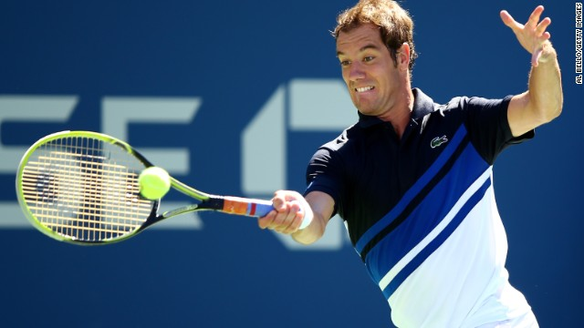 Richard Gasquet became the second French man in the Open era to reach the U.S. Open semifinals.