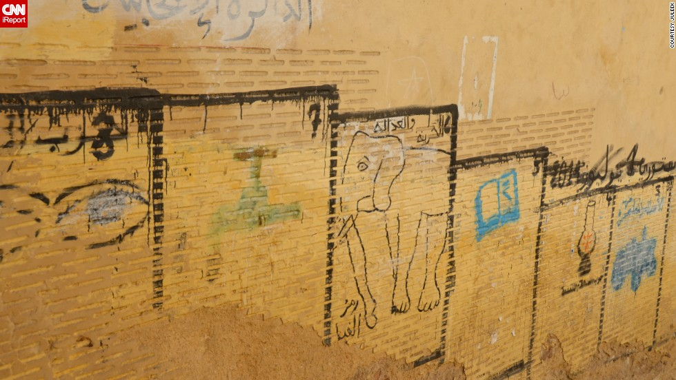 iReporter Julee Khoo was intrigued while traveling in Morocco to see these marked out boxes on the walls of the oldest part of Fes. The boxes are used by political parties to place election posters, but some paint their party's symbol instead.