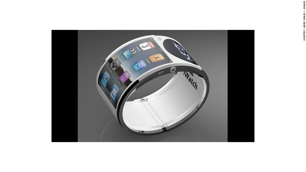 It's iWatch concepts all the way now and this plausible design by James Ivaldi has a fully flexible touchscreen interface with the all the mod cons of a normal iPhone.