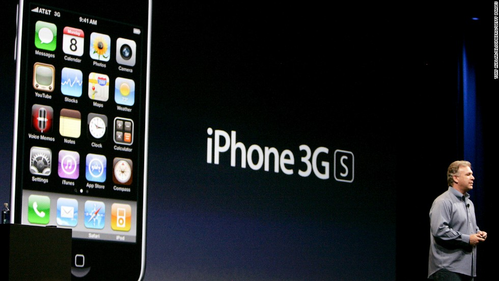 Philip Schiller, Apple's senior vice president of marketing, unveiled the iPhone 3GS at Apple's WWDC event on June 8, 2009. Schiller filled in for an ailing Steve Jobs, who was on medical leave. The 3GS was the first iPhone to shoot video.