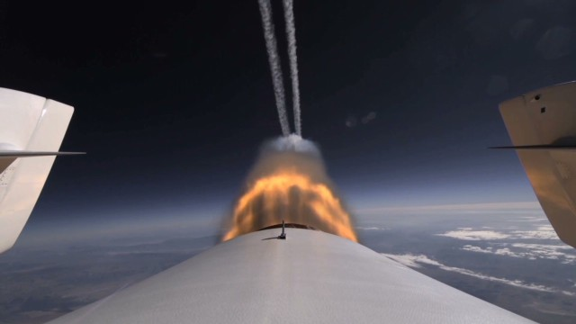 Ride aboard Virgin Galactic spacecraft