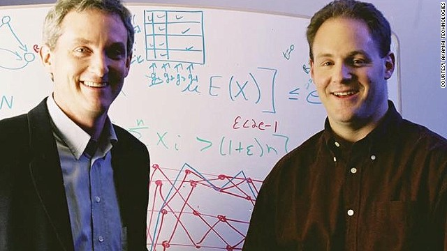 Tom Leighton and Danny Lewin founded Akamai in 1998.