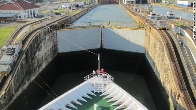 Marveling at a marvel -- the Panama Canal.