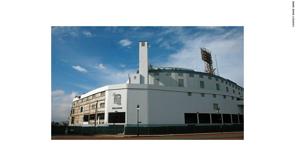 Despite Tiger Stadium's listing on the National Register of Historic Places, multiple efforts failed to save the stadium that opened on the same day in 1912 as Fenway Park in Boston. A group of volunteer weekend warriors still maintains the baseball diamond.