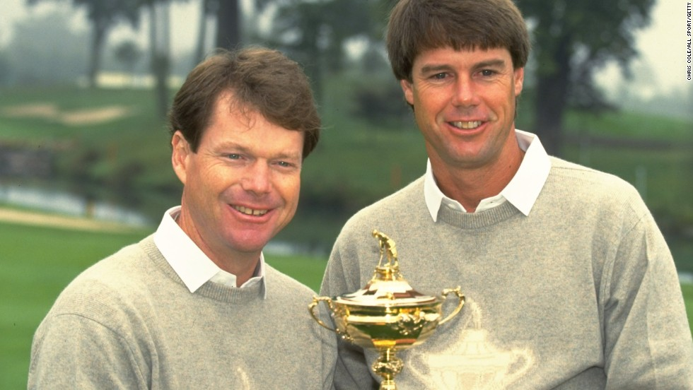 Watson with Paul Azinger, whose half with Nick Faldo helped the U.S to come from behind on the final day in 1993.