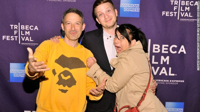 Kathleen Hanna with husband Adam Horovitz of the Beastie Boys, left, and director Matt Wolf at the 2013 Tribeca Film Festival.