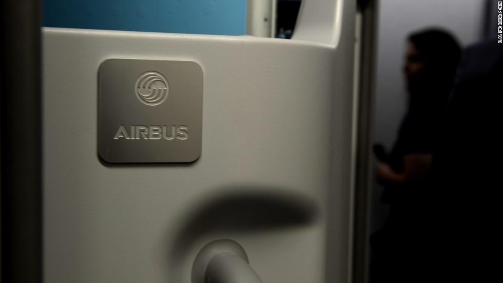 The plane boasts 16 passenger doors.