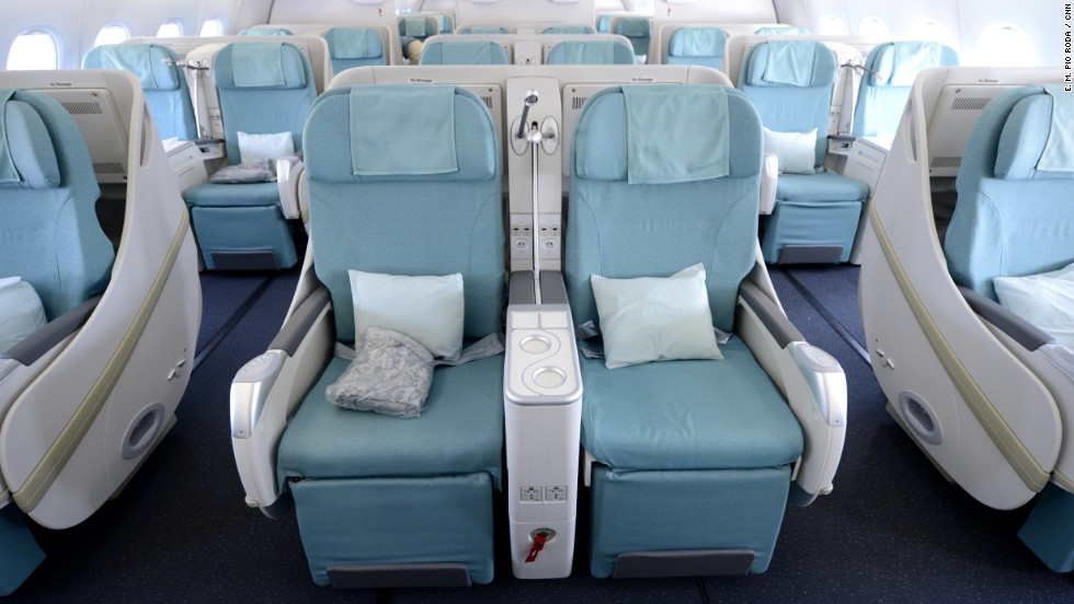 The proposed new seating plans are unlikely to affect the A380's business-class passengers.