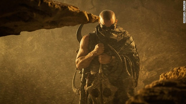 "Vin Diesel stars as Riddick in 'the film ""Riddick."""