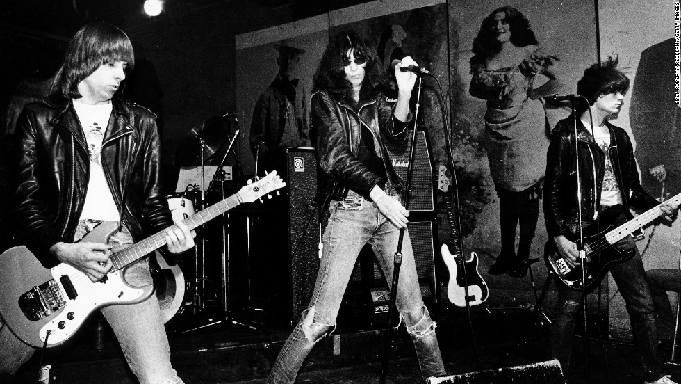 "With their leather jackets, sneering attitude and turbo-powered songs, the foursome from Queens, New York, defined ""punk,"" and it was their July 4, 1976, appearance at London's Roundhouse that helped ignite the UK punk scene. ""If that Ramones record hadn't existed, I don't know if we could have built a scene here,"" the Clash's Joe Strummer once said. Their rise was slower, but no less influential, in their home country."