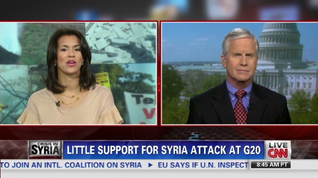 Little support for Syria attack at G20