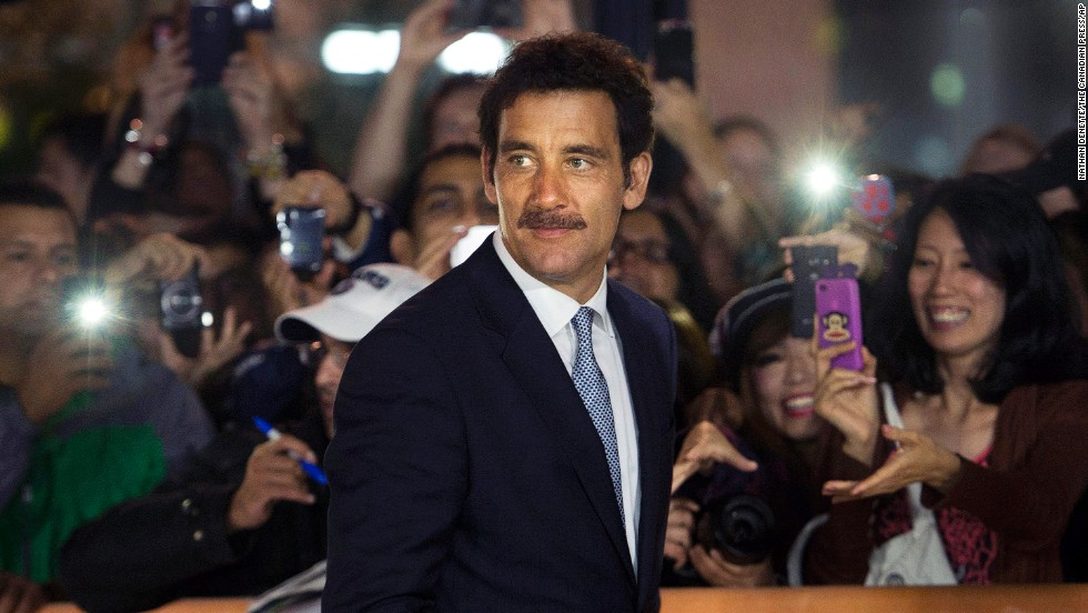 "Actor Clive Owen arrives for the screening of the movie ""Words and Pictures"" on September 7."