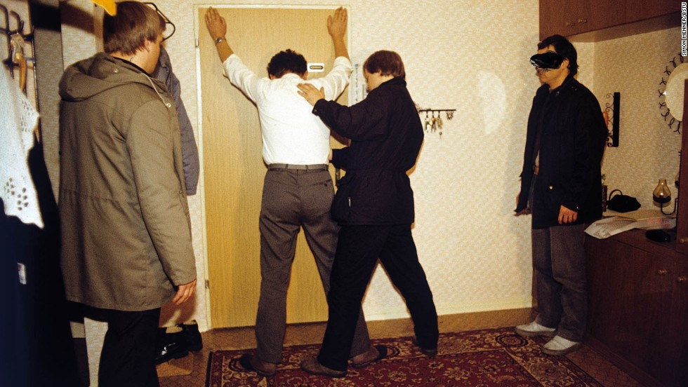 An arrest is staged and documented for training purposes.