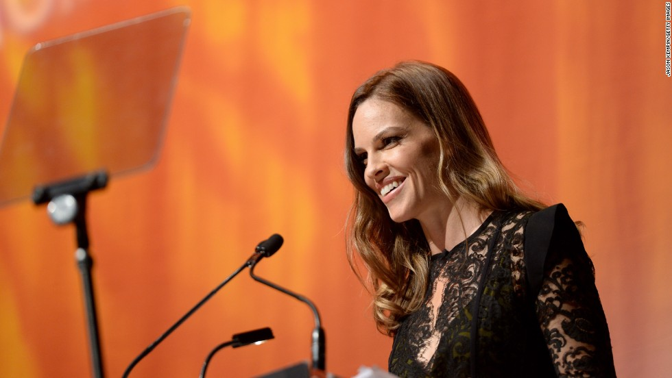 Actress Hilary Swank attends the amfAR Inspiration Gala during the festival on September 8.