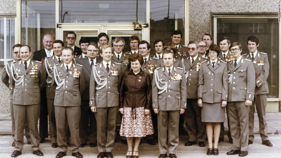 High-level Stasi functionaries pose for the camera.