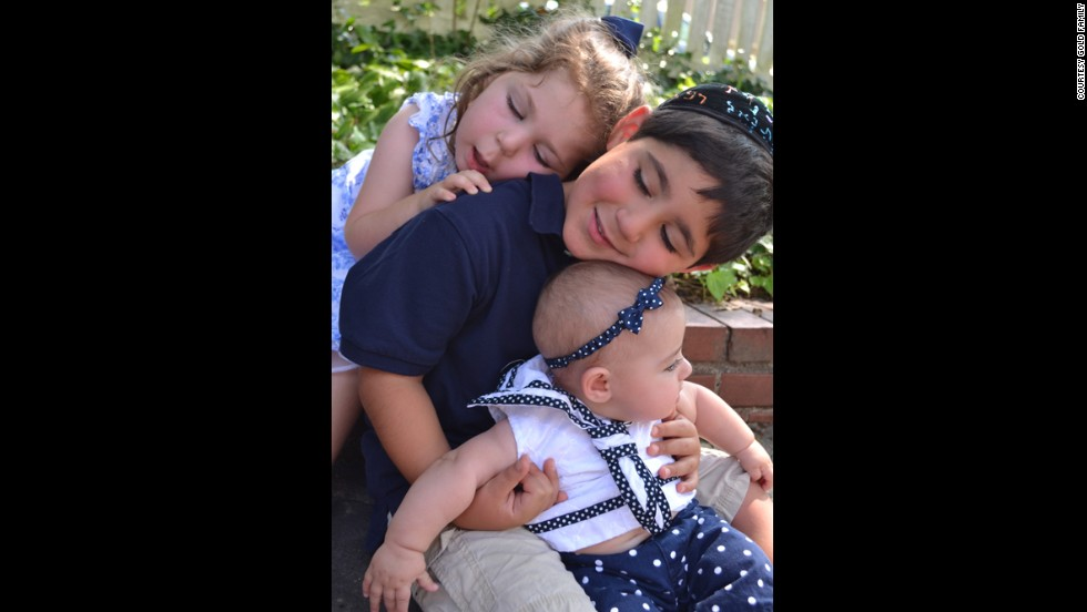 Using IVF and pre-implantation genetic testing, the Golds had a healthy baby girl in February 2012. Big brother Natanel and little Shai love their sister, Eden.