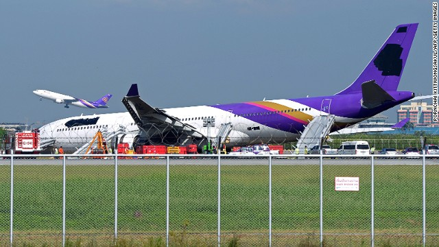 "Thai Airways followed its policy of ""de-identifying"" a plane after an accident to protect the airline's reputation."