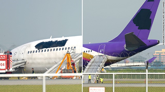 No logo ... Thai Airway's attempts at anonymity appear instead to have garnered it worldwide media attention.