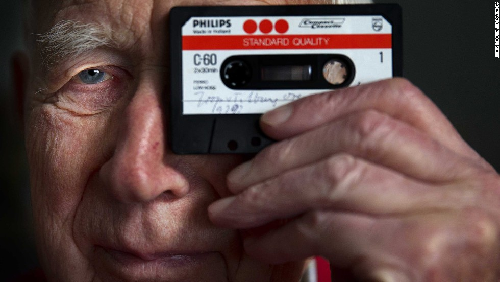 "In 1963, Philips Electronics officially introduced the ""compact cassette,"" which contained a length of audio tape approximately 3.15 millimeters wide that ran at 1-7/8 inches per second. It was intended to replace the bulkier reel-to-reel tape and be used for dictation, but over the next 50 years, it would prove to be far more versatile. Lou Ottens, shown here, led Philips' team."