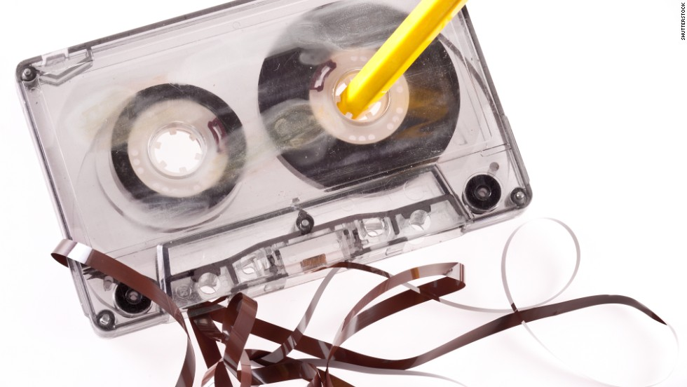 There were drawbacks to cassettes. If your equipment was misbehaving, your tape could start unwinding in the machine, leaving you with a mess. The classic way to get the cassette back to normal was to stick a standard hexagonal pencil in a tape spool and spin it to tighten the tape back together. If the tape was broken, however, you were probably out of luck.