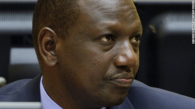 William Samoei Ruto looks on during a trial hearing in the International Criminal Court at The Hague, Netherlands.
