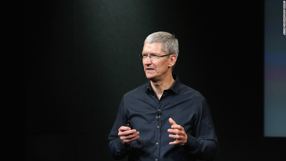Apple CEO Tim Cook kicked off the company's iPhone press event before several hundred reporters and guests Tuesday at the Apple campus in Cupertino, California.