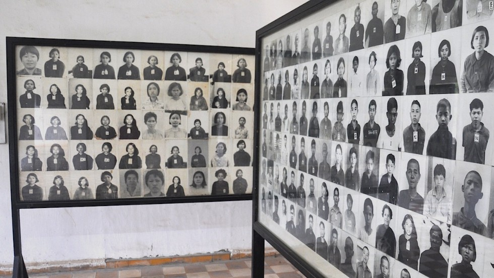 Phnom Penh's Tuol Sleng Genocide Musuem is set in a former high school used by the Khmer Rouge from 1975 to 1979 as a prison and interrogation center. Photos of victims line the walls of the complex, one of Phnom Penh's most popular tourist sites.