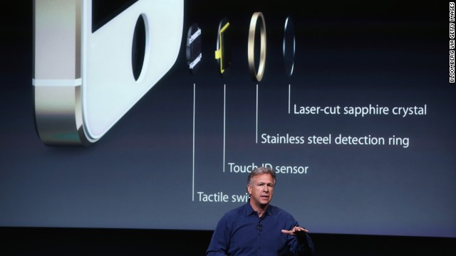 Apple marketing director Phil Schiller explains Touch ID, the iPhone 5S's fingerprint-reading security tool.