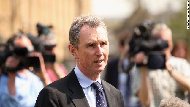 Nigel Evans (pictured in May this year) has been a member of Britain's Parliament since 1992.
