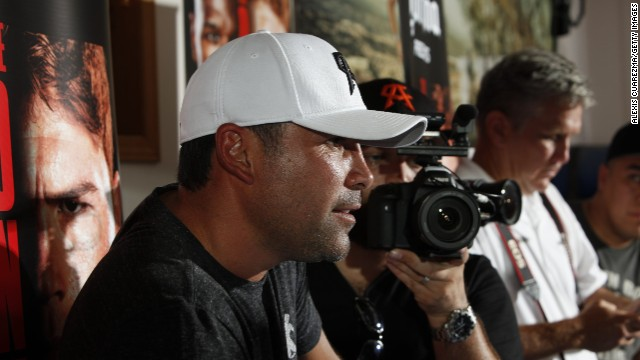 Boxer Oscar De La Hoya (pictured in August) has battled with drug and alcohol abuse.