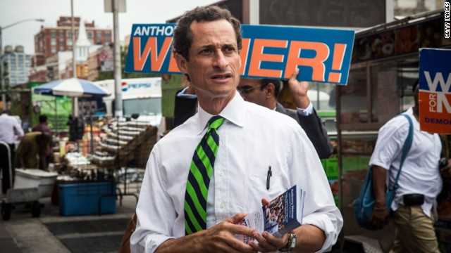 Anthony Weiner, once a front runner in the New York mayoral race, finished in fifth place with roughly 5% of the vote.