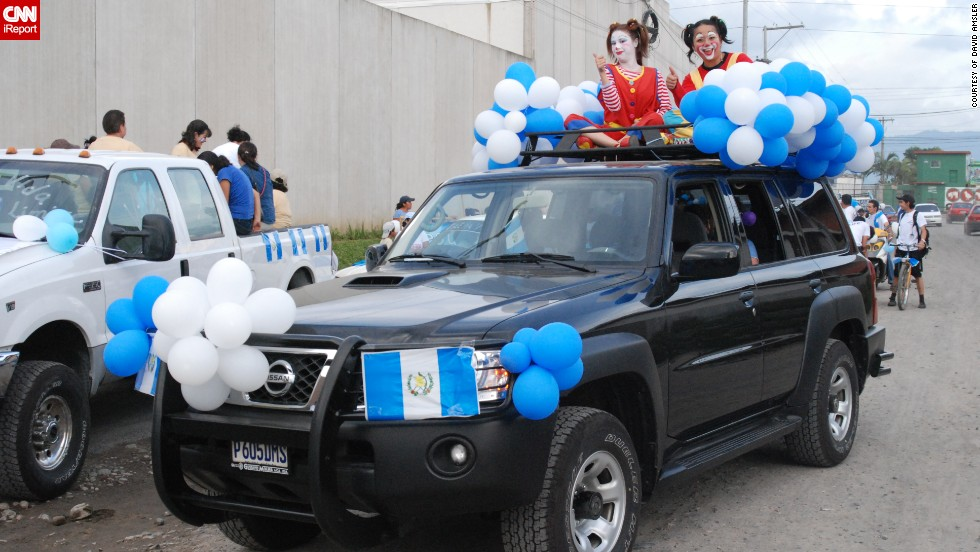 "This decorated SUV belongs to David L'Amsler, a minister and missionary from Springfield, Missouri, who has been living in Guatemala since 2008. ""It was an extremely moving experience to observe first hand Guatemalans celebrating their freedom as I had the <a href=""http://ireport.cnn.com/docs/DOC-1023487"" target=""_blank"">honor of driving the lead vehicle</a> in the parade. The local police helped barricade the route as the parade snaked its way through down as horned honked, whistles blew and people cheered"" said the 57-year-old."
