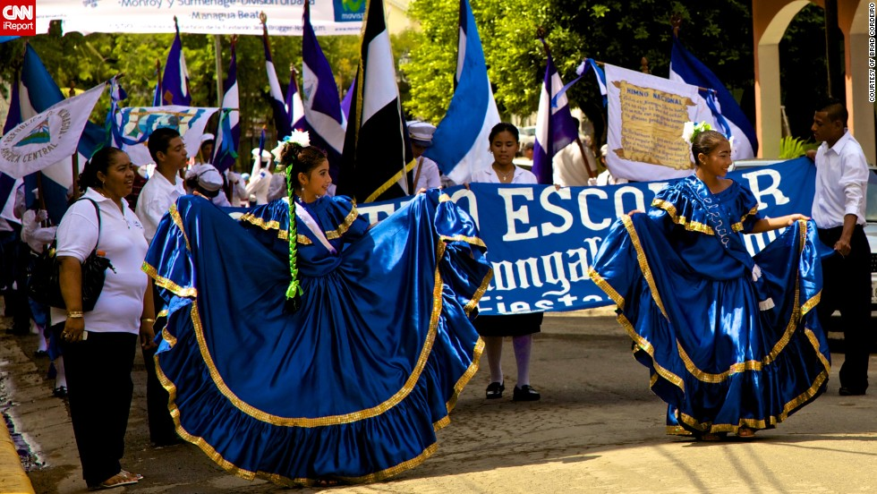 "The flowing blue dresses worn by young women during an Independence Day parade in Nicaragua was captured on film by Brad Cordeiro on September 14, 2009. The 31-year-old from Los Angeles was in Nicaragua to work on the TV-show Survivor. ""The feel of the parade was of a lot of proud parents watching their kids participate. <a href=""http://ireport.cnn.com/docs/DOC-1028970"" target=""_blank"">The celebration was a week long</a>, and as San Juan del Sur is a resort town people from all over the country came to town, it felt like the whole country was there,"" he said."