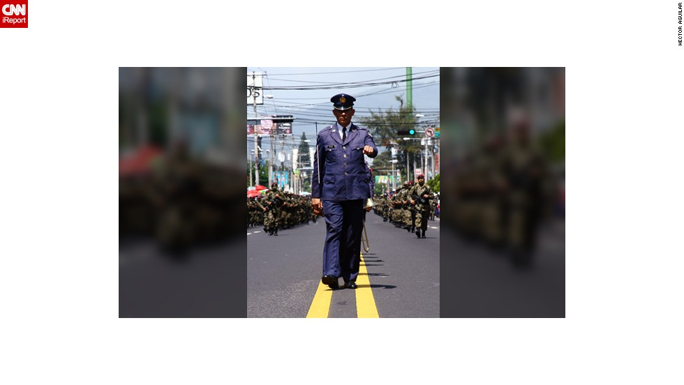 "Ever since he was a child, Hector Aguilar has attended the annual military parades put on for <a href=""http://ireport.cnn.com/docs/DOC-1027938"" target=""_blank"">Independence Day in El Salvador.</a>  ""I love to watch the march, vehicles, helicopters and planes and of course the equestrian show. I always bring my camera to catch some images,"" said the 30-year-old graphic designer from San Salvador. He took this photo on September 15, 2011."