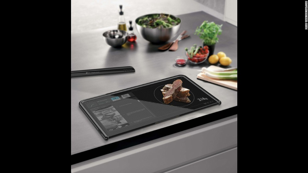 "<a href=""http://www.yankodesign.com/2012/04/17/digital-cutting-board/"" target=""_blank"">This digital cutting board</a> is designed to be a touchscreen device, a food scale and a cutting board all in one."