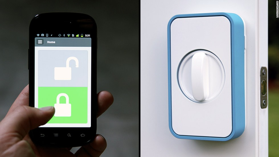 "<a href=""https://lockitron.com/"" target=""_blank"">Lockitron</a> lets you use your smartphone to unlock your doors."