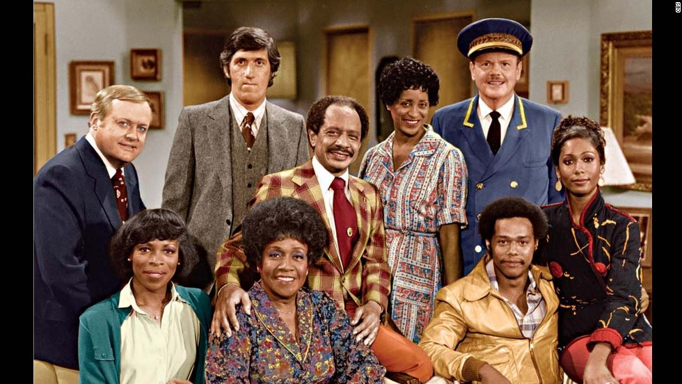 "Producer Norman Lear found additional success with ""The Jeffersons,"" one of the spinoffs from his groundbreaking series ""All in the Family."" Isabel Sanford, Sherman Hemsley and Marla Gibbs, at center, were the stars."