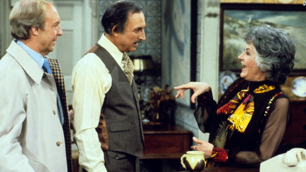 """Maude"" was another ""All in the Family"" spinoff. The character first appeared on that series as Edith Bunker's cousin. Bea Arthur played the title role. Conrad Bain, left, and Bill Macy also starred."