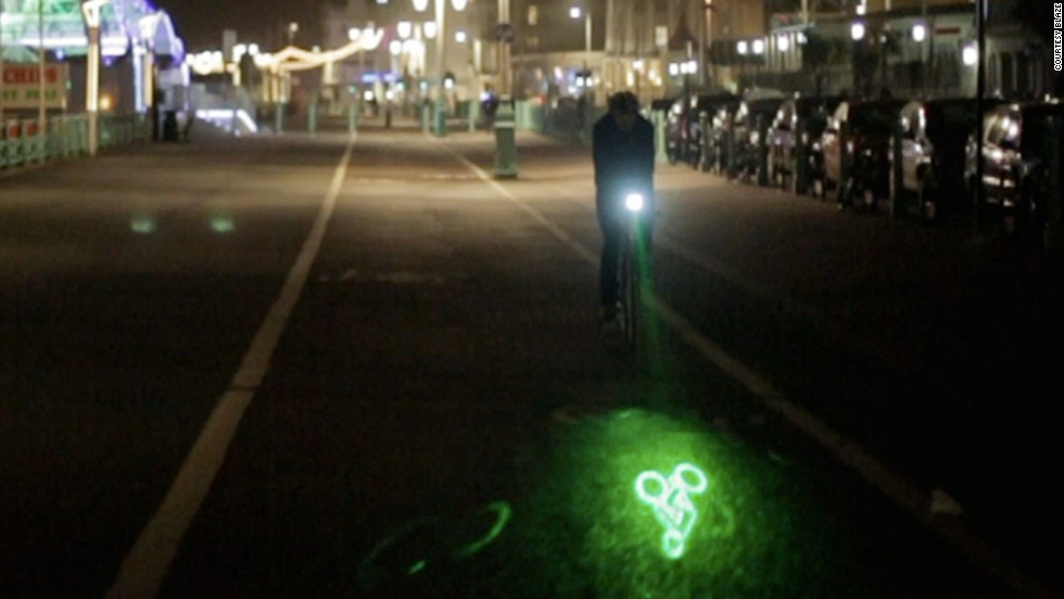 Blaze uses a laser light to project an image of a bike onto the road ahead, letting other road users know that it's coming.