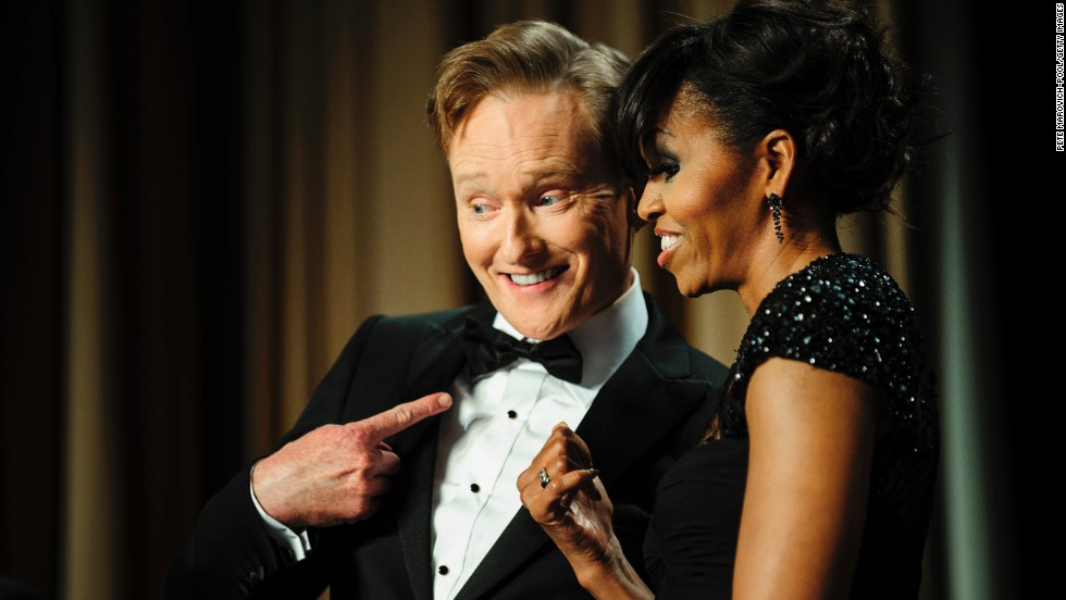 In February 2015, Conan O'Brien took his show on the road to Havana, Cuba. It's just the latest triumph for the man who has been in late night TV for more than 20 years. Although he's had a bit of a rough ride -- what with 2010's late night wars over on NBC and all -- we've always made it a point to tune in to the guy behind Triumph the Comic Dog and the Masturbating Bear, no matter what channel he's on. Here are our some of our favorite moments from O'Brien's late night career.