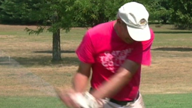 Man golfs 125 holes to build up library