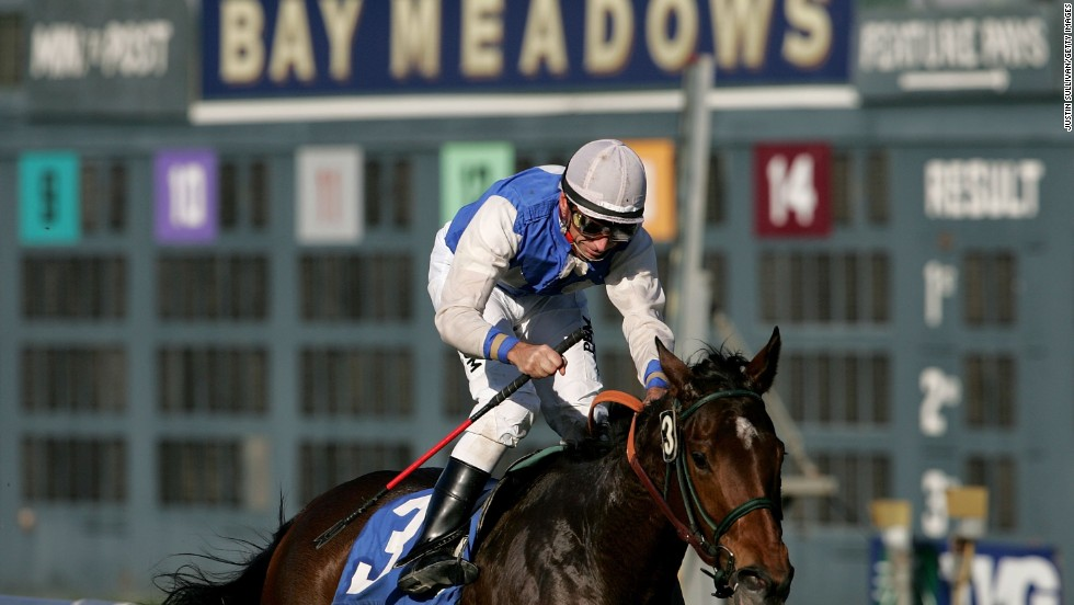 One of the two main race tracks in Northern California, Bay Meadows was often dubbed 'Baze Meadows' after Russell finished as the leading jockey there in every season from 1981 until its closure in 2008.