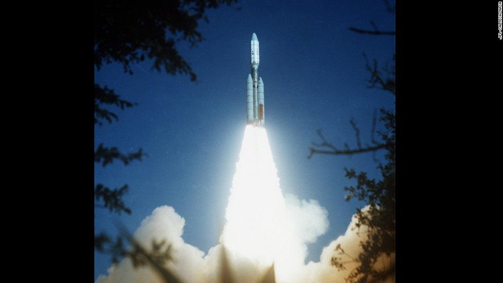 As its sister probe Voyager 1 leaves our solar system, take a look at some of the images provided by Voyager 2.  Here, Voyager 2 launches on August 20, 1977.