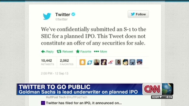 Twitter announces IPO